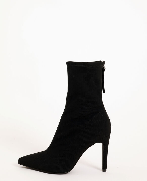 Mi-bottes pointues noir