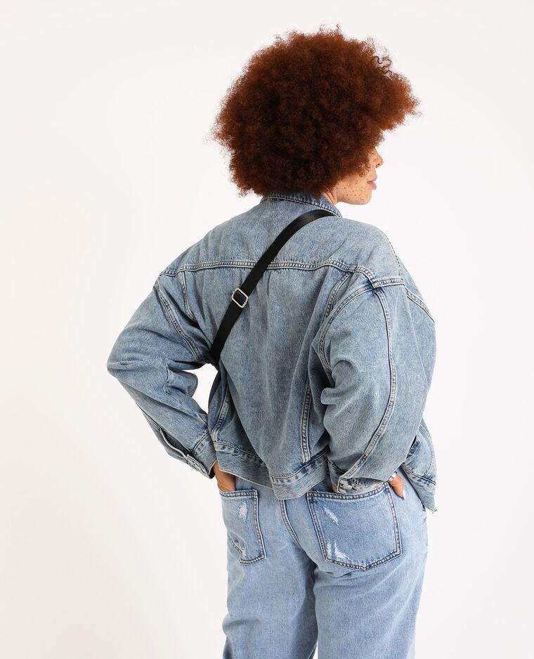 Veste en jean oversized bleu délavé - Pimkie