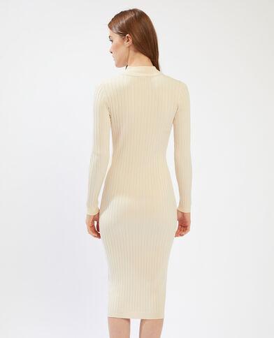 Robe pull zippée beige - Pimkie
