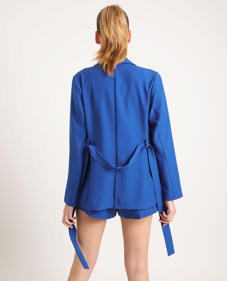 Blazer à ceinture bleu - Pimkie