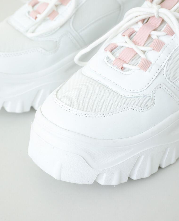 Baskets dad shoes blanc cassé