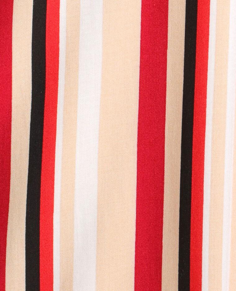 Chemise à rayures blanc et rouge