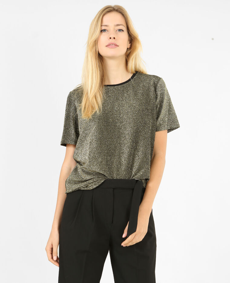 T-shirt brillant noir