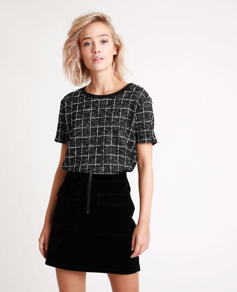T-shirt tweed noir