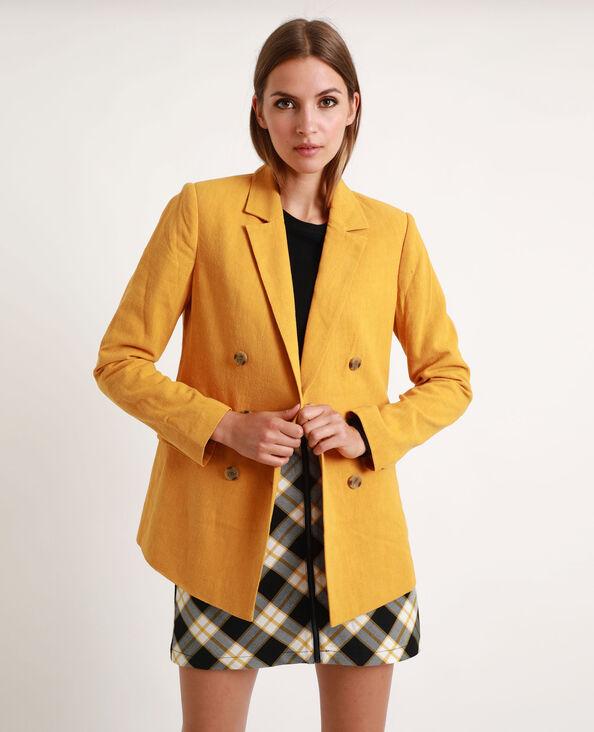 Blazer en lin jaune