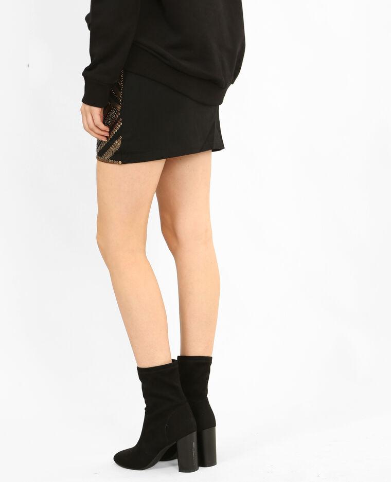 Mini jupe à sequins doré