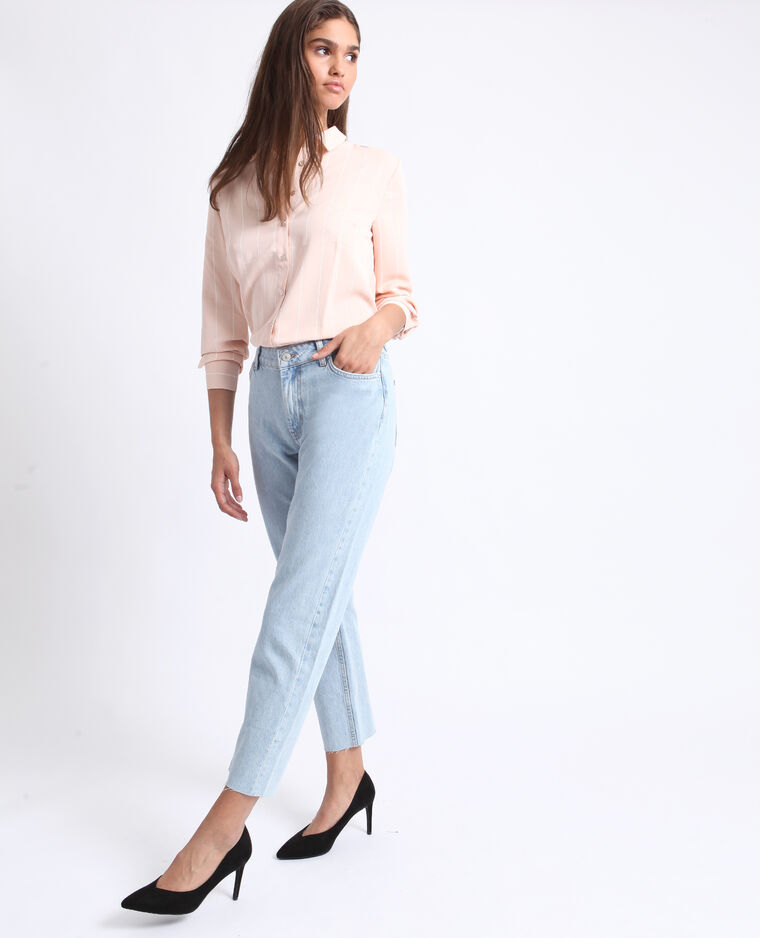 Jean straight mid waist bleu clair