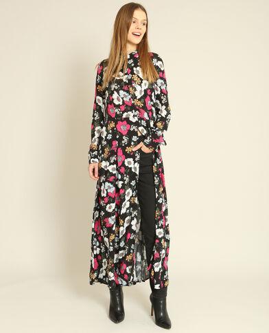 Robe chemise fleurie noir - Pimkie