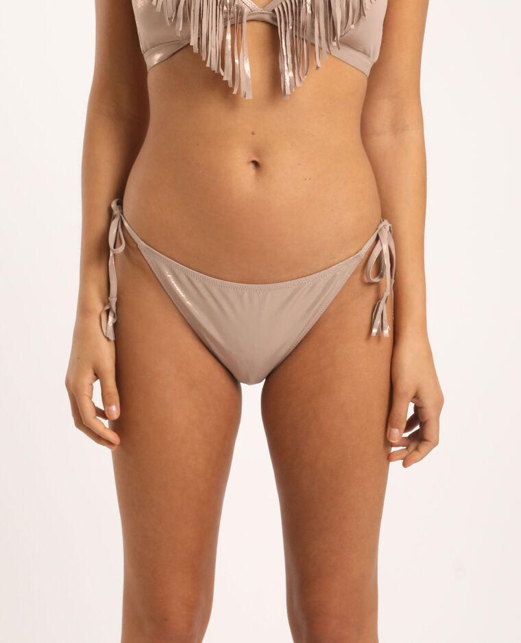 Bas de bikini échancré cuivré