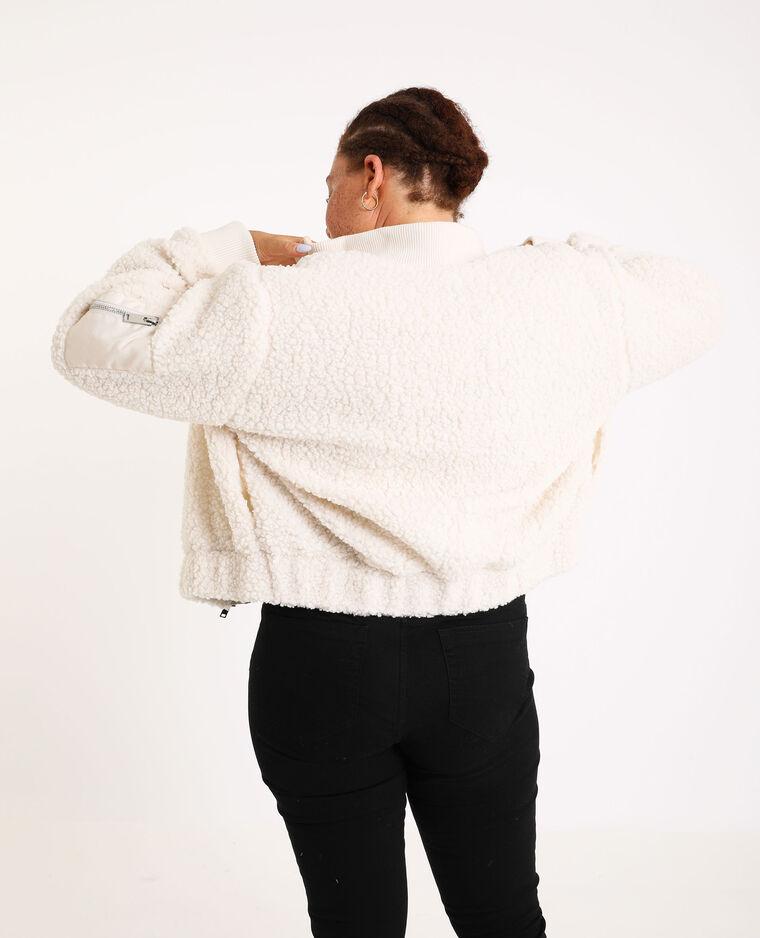 Bomber imitation mouton blanc cassé - Pimkie