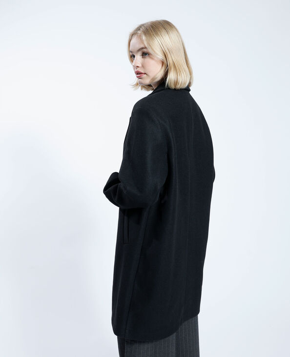 Manteau long noir - Pimkie