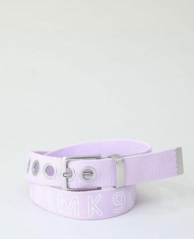 Ceinture coton violet - Pimkie