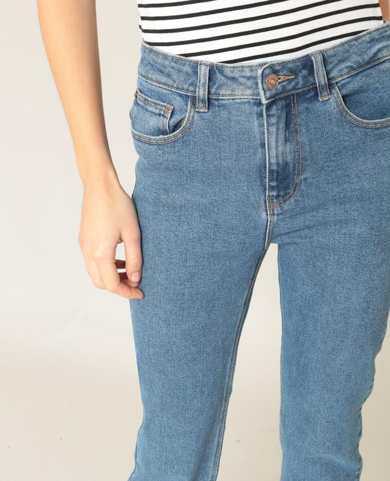 Jean droit bleu brut