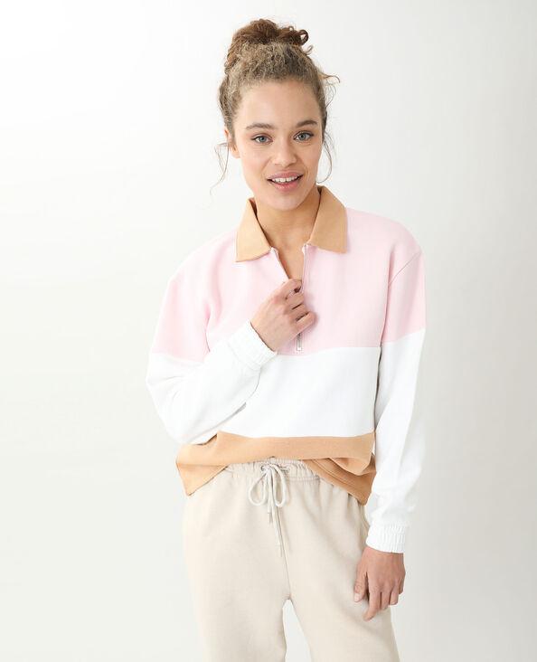 Sweat zippé blanc - Pimkie