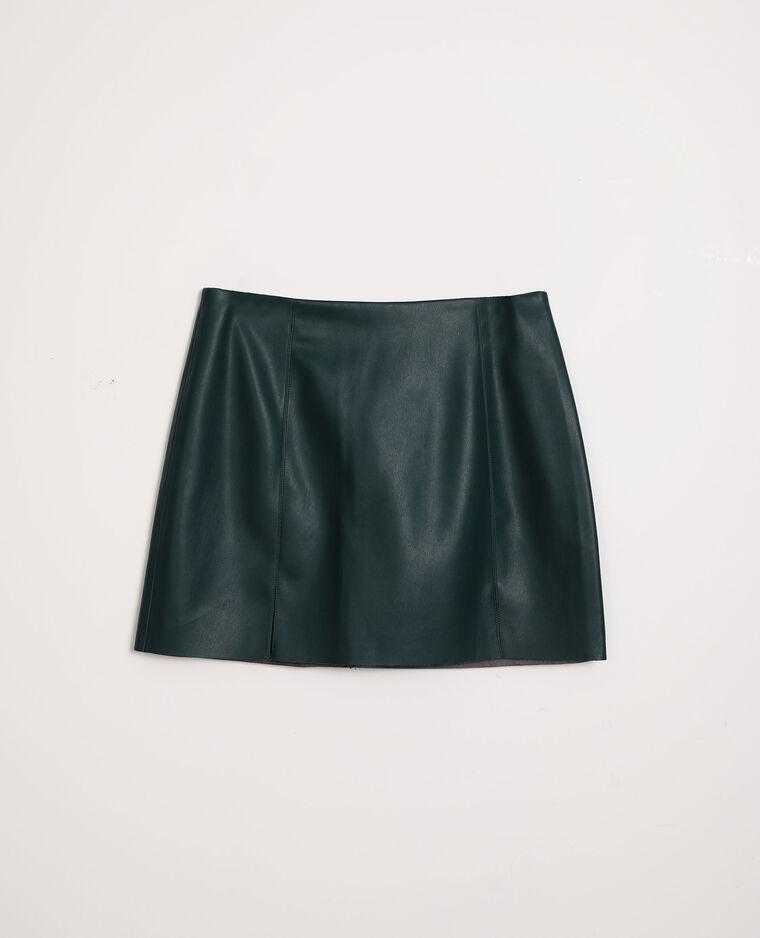 Jupe courte simili cuir vert - Pimkie