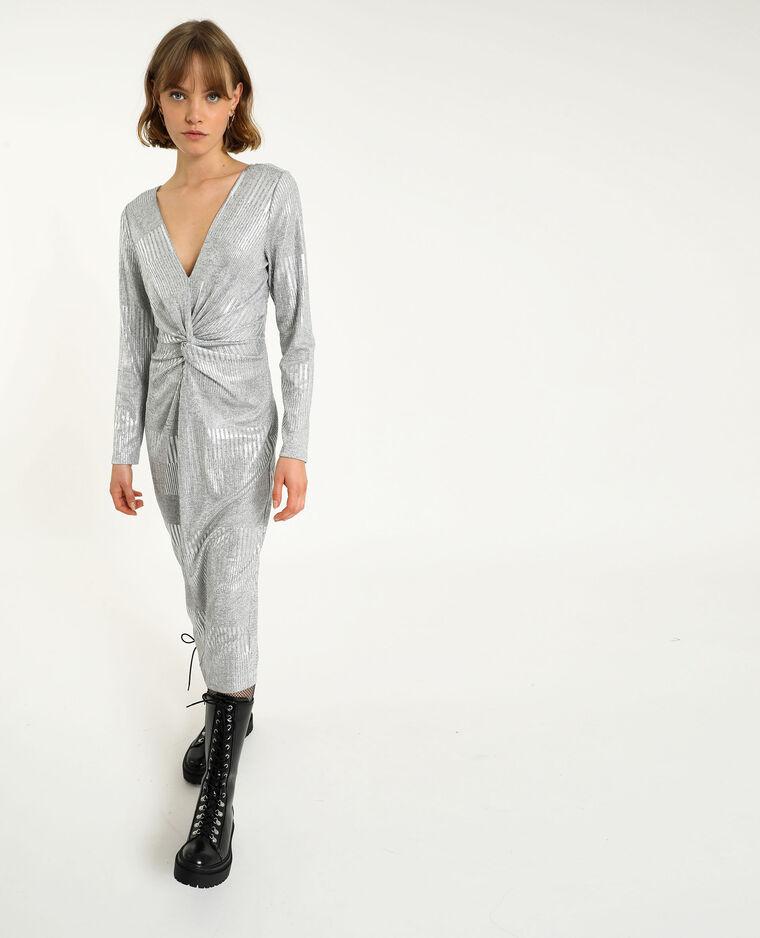 Robe nouée gris - Pimkie
