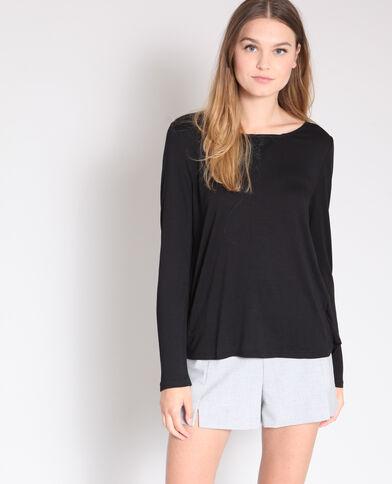 T-shirt à dentelle noir b807668cde96