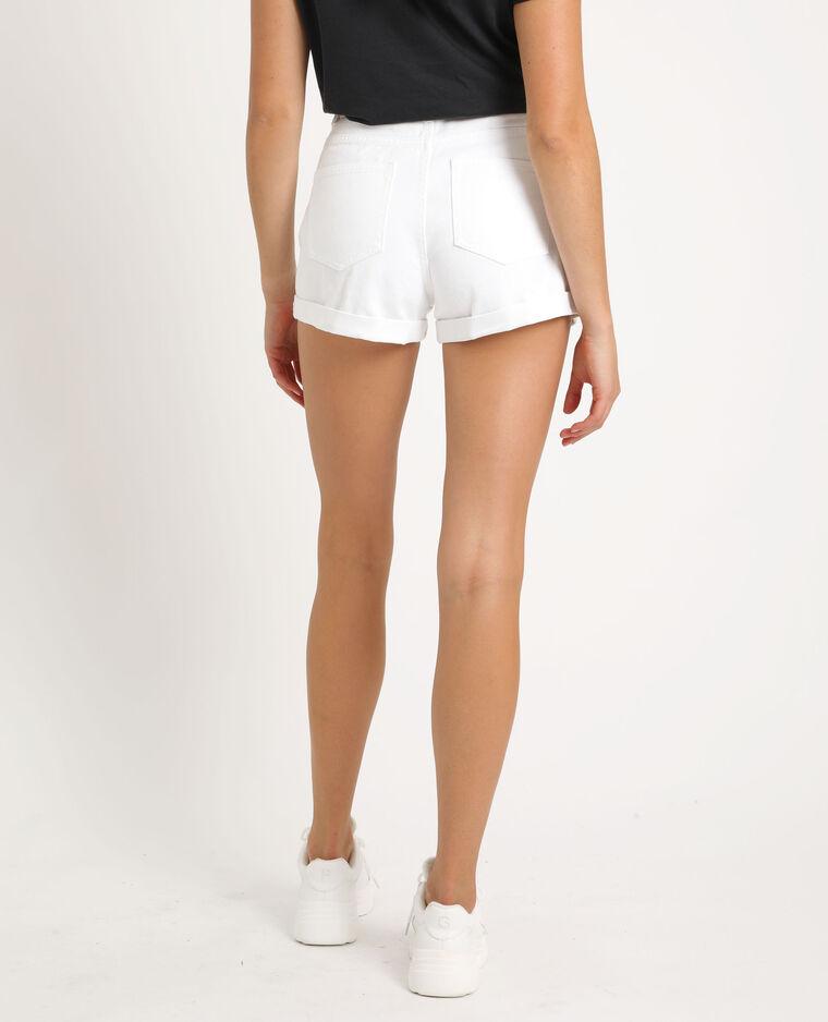 Short en jean mom blanc
