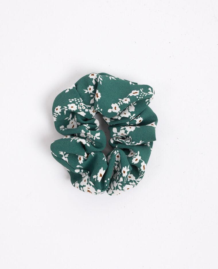Chouchou à petites fleurs vert - Pimkie
