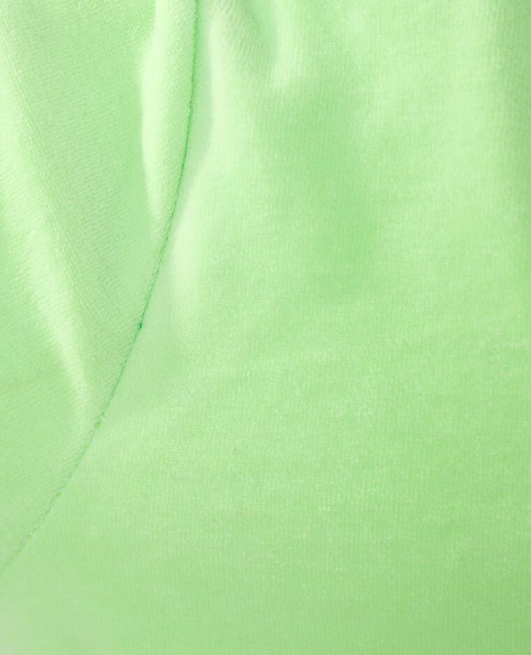 Sweat à capuche en velours vert - Pimkie