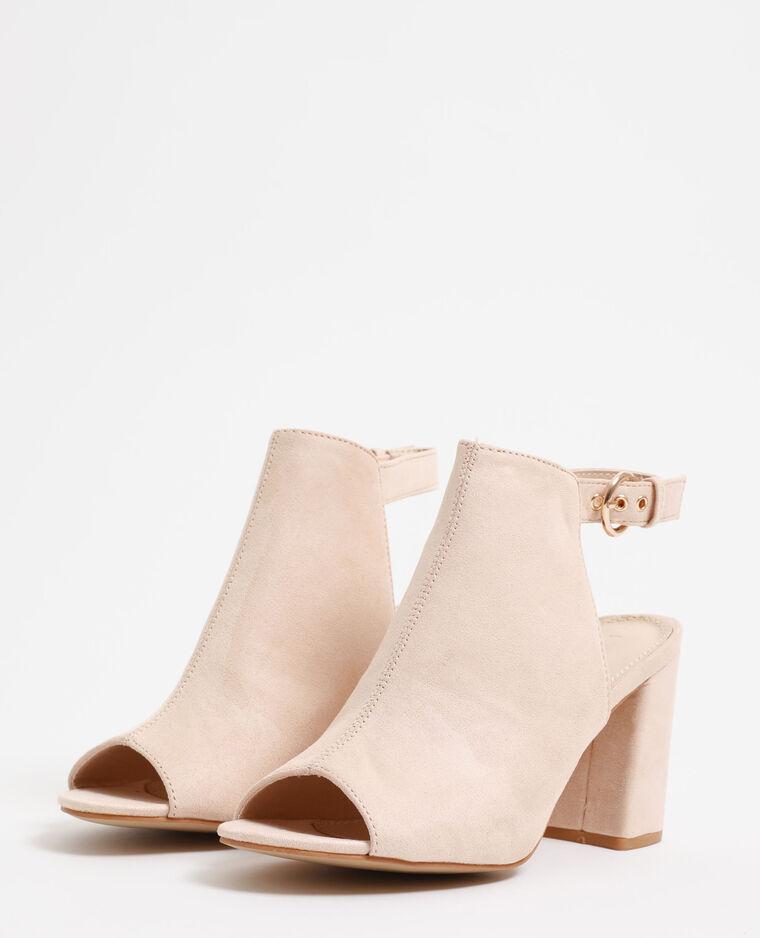 Sandales ouvertes rose poudré - Pimkie