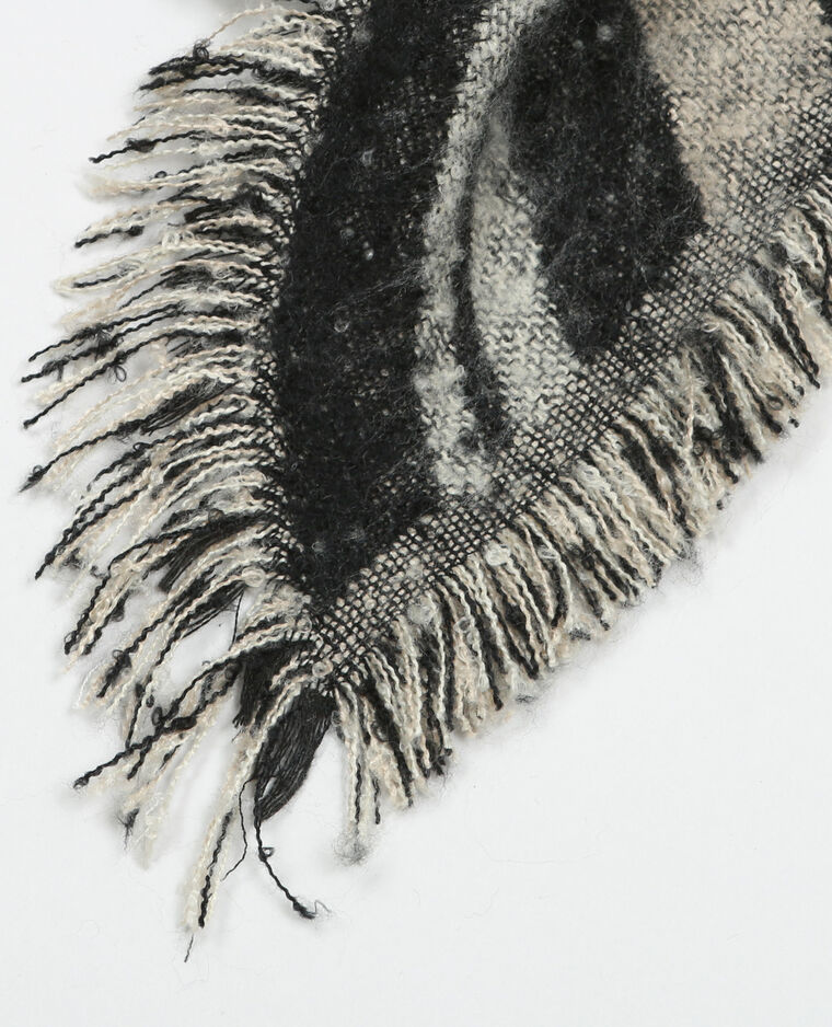 Echarpe plaid gris