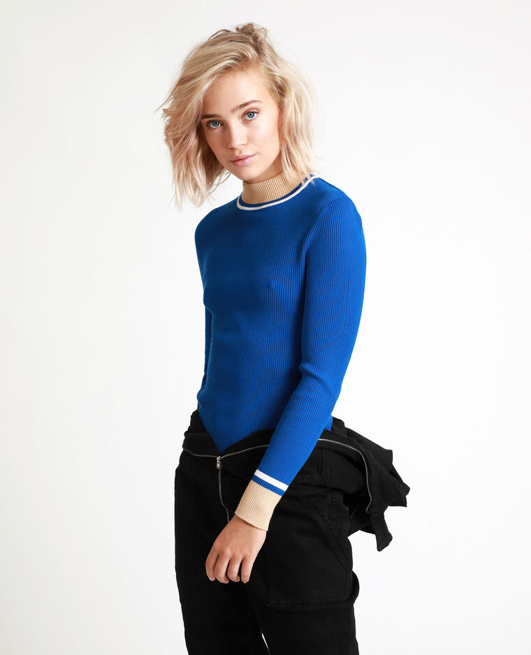 Pull moulant bleu