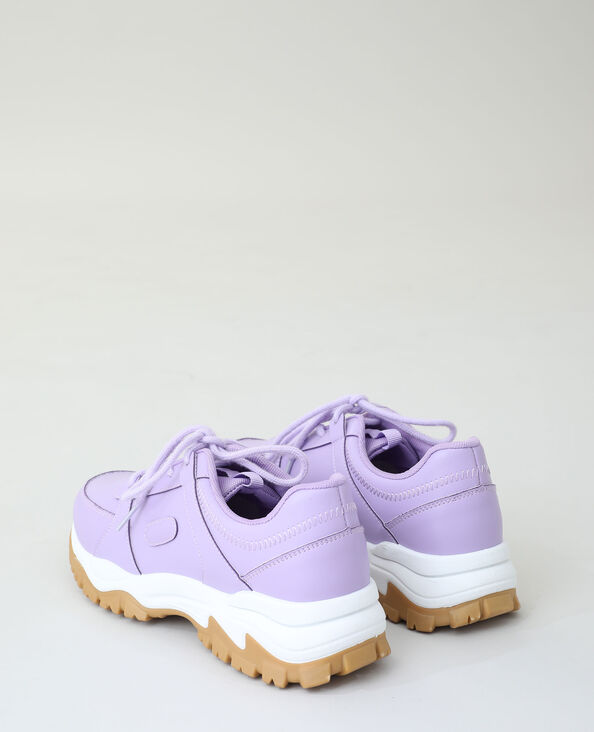 Baskets dad shoes violet