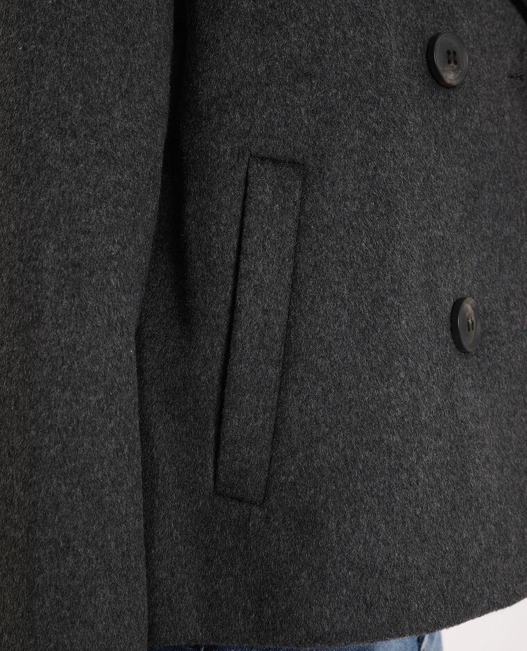 Manteau court gris