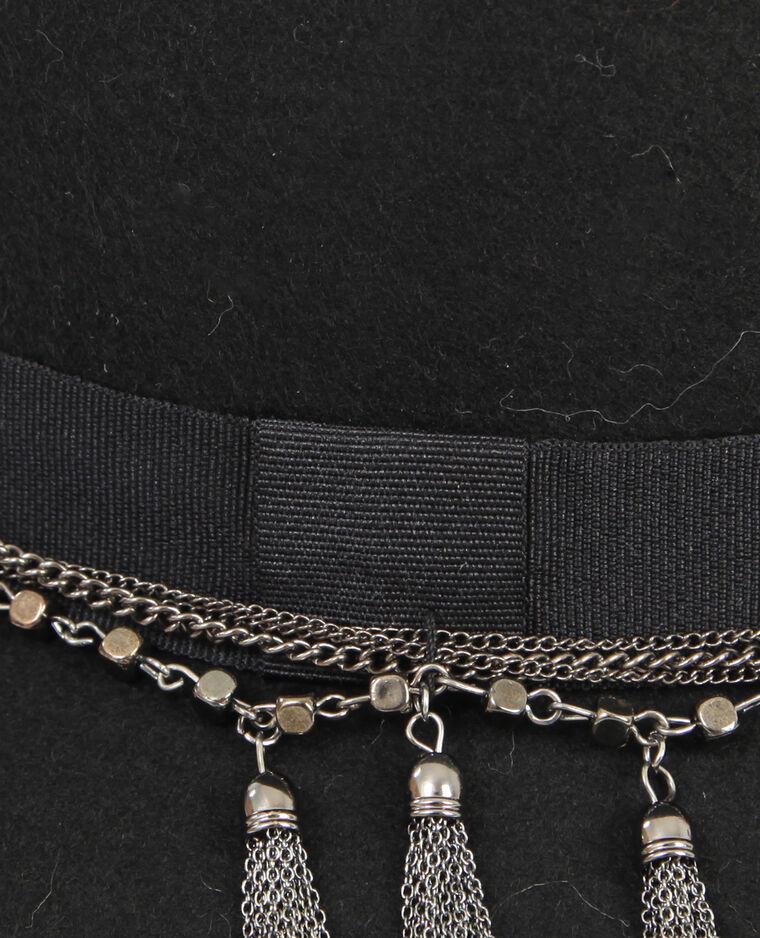 Capeline avec chaînes noir