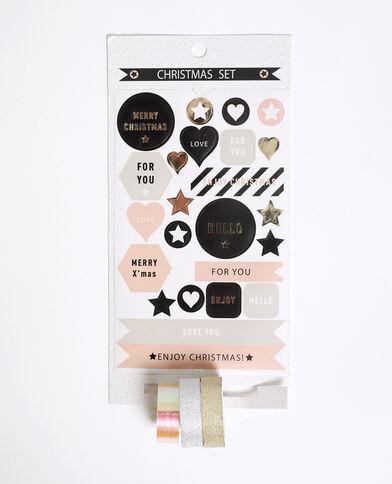 Masking tape et stickers de Noël écru
