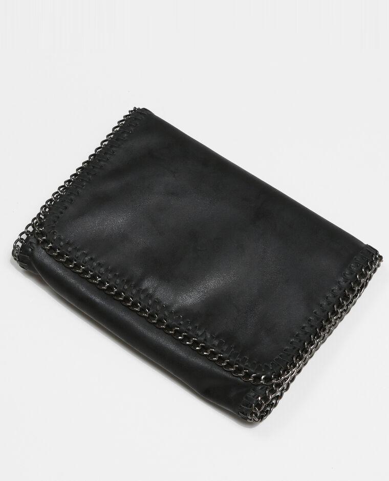Sac pochette avec chaîne noir