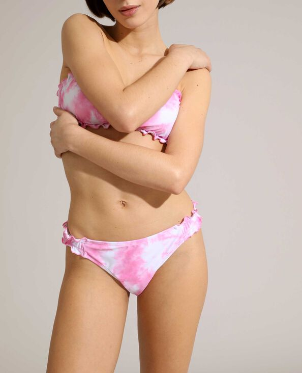Bas de maillot culotte tie and dye rose