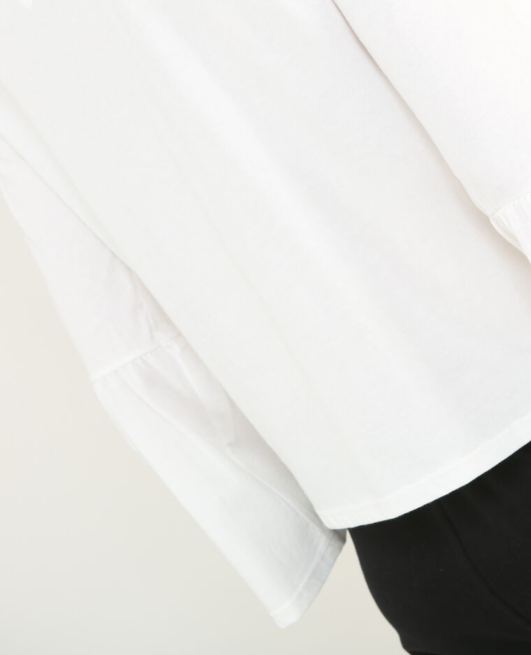 T-shirt  manches pagodes blanc cassé
