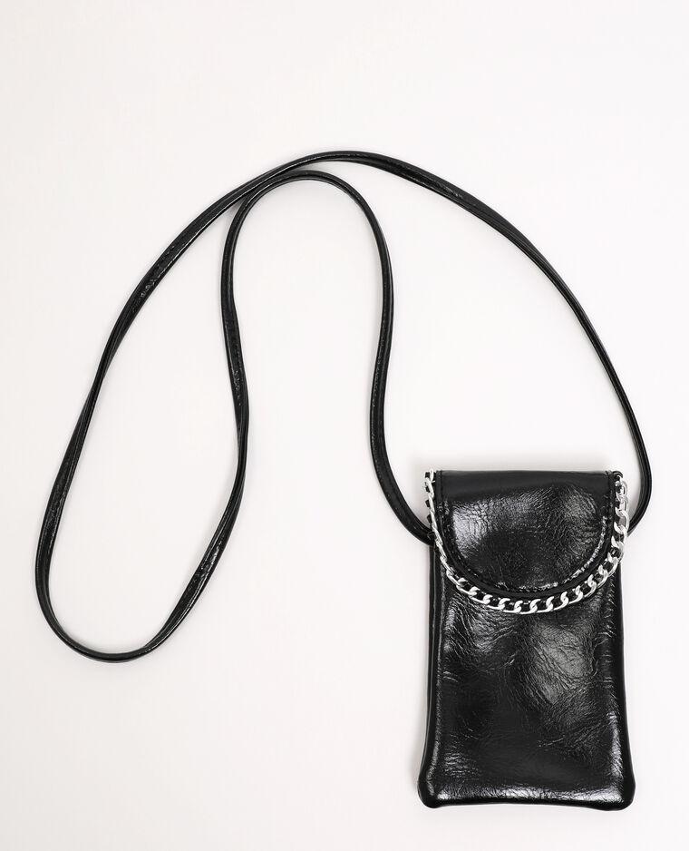 Pochette à téléphone noir
