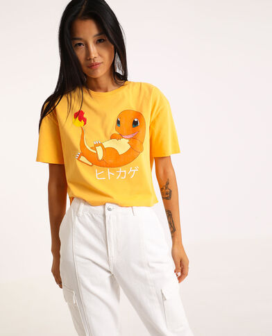 T-shirt cropped Pokemon Orange