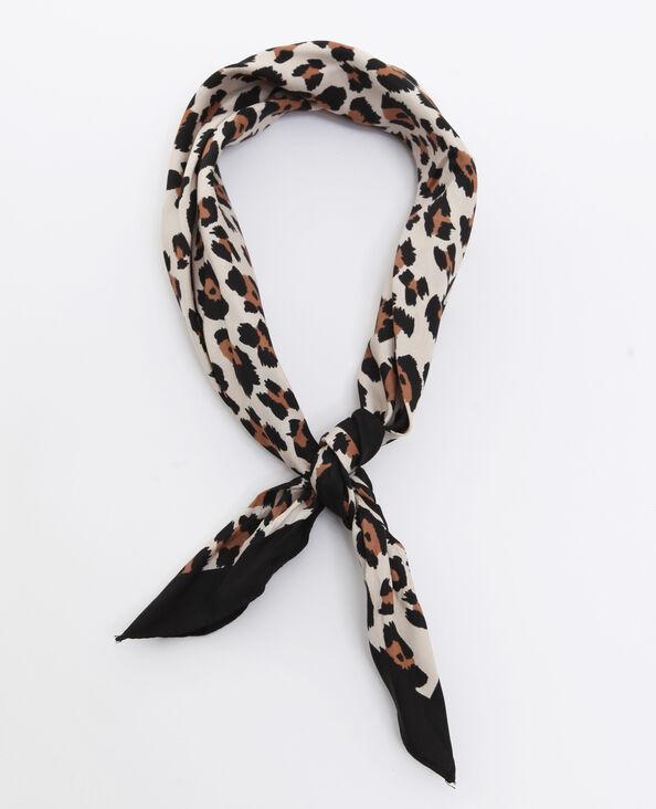 Foulard léopard écru