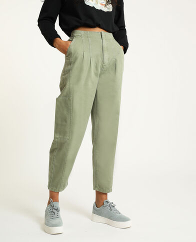 Pantalon slouchy kaki