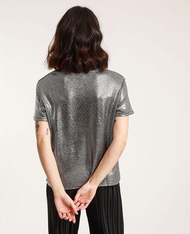 T-shirt à paillettes gris