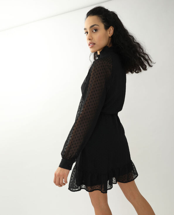 Robe plumetis noir - Pimkie