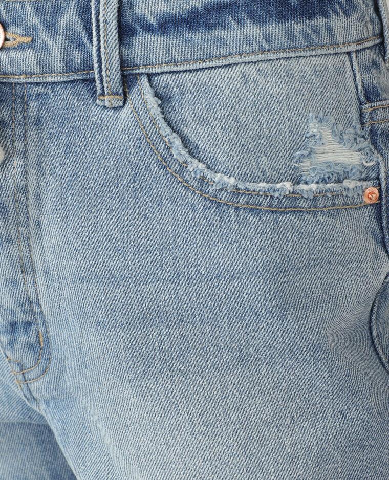 Short en jean destroy bleu clair - Pimkie