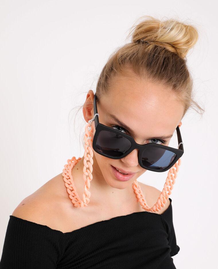 Chaine à lunettes rose pâle