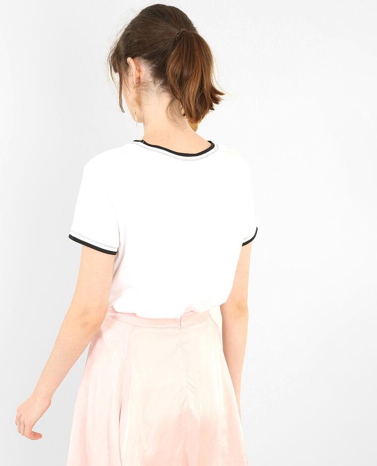 T-shirt coquillage écru