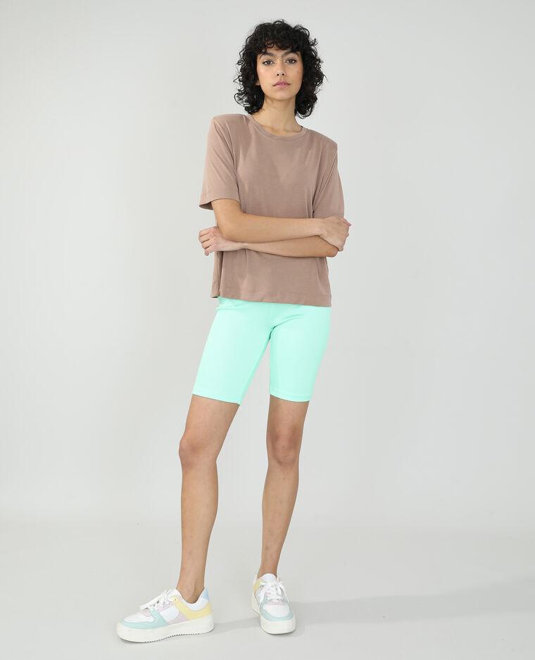 T-shirt à épaulettes beige - Pimkie