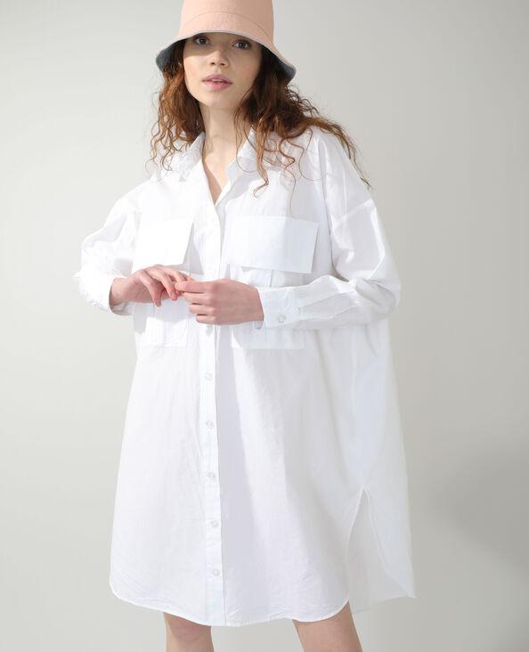 Robe chemise oversize blanc