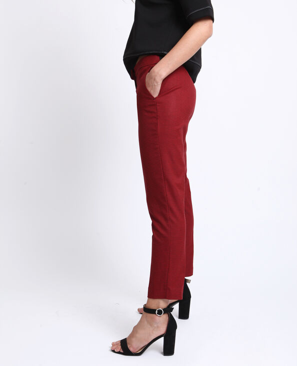 Pantalon city à imprimé rouge à imprimé
