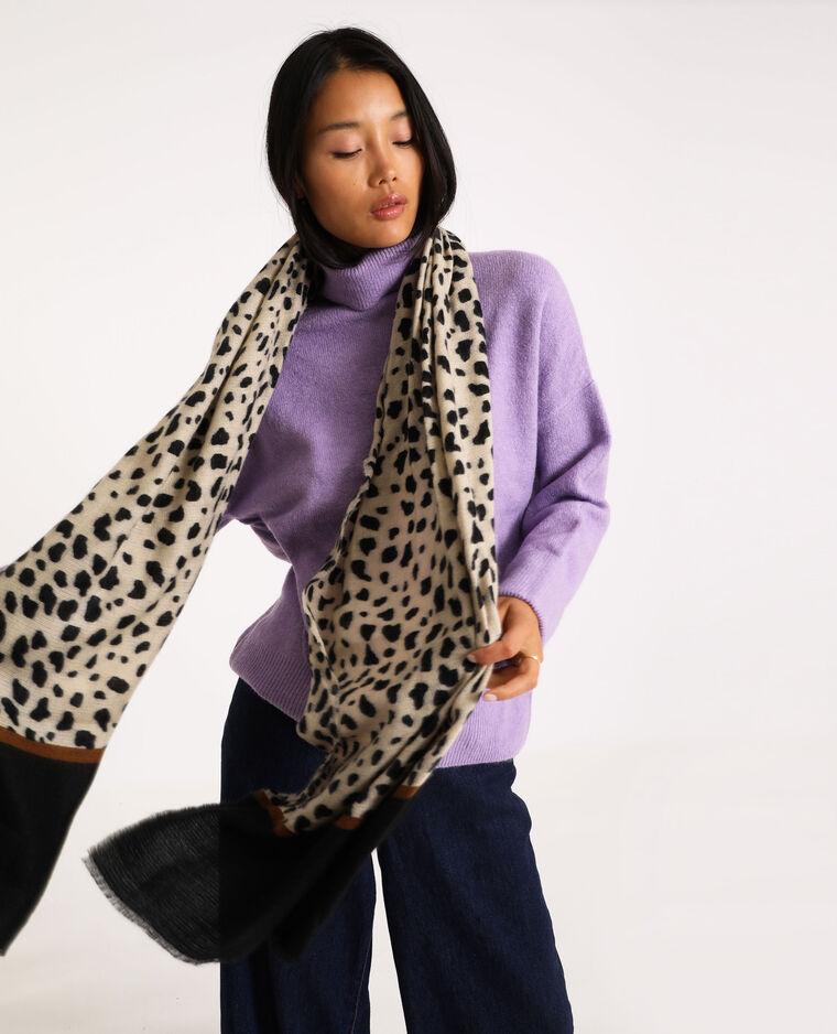 Echarpe léopard brun