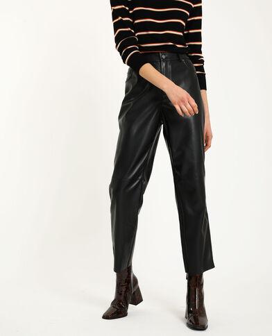 Pantalon simili cuir noir - Pimkie