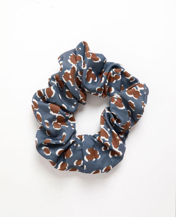 Chouchou imprimé gris bleu