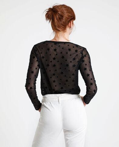 T-shirt à étoiles noir